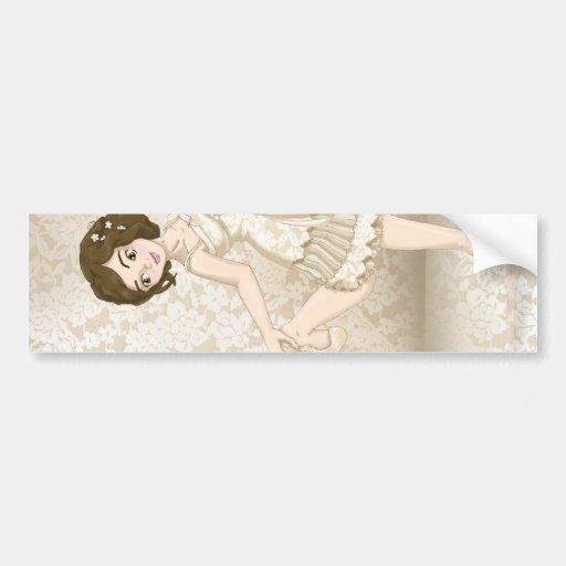 Ivory Bride Bumper Sticker