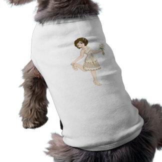 Ivory Bride Sleeveless Dog Shirt
