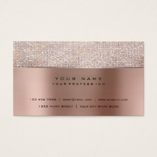 Ivory Brush Pearly Copper Steel Silver Glitter VIP Business Card