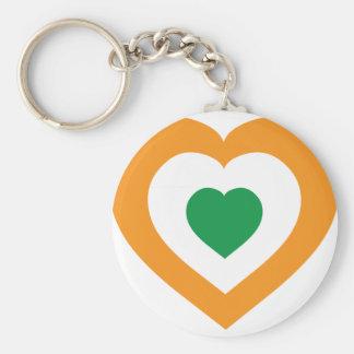 Ivory Coast Basic Round Button Key Ring