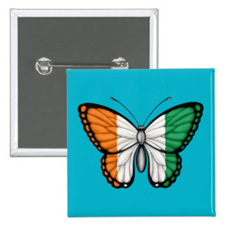 Ivory Coast Butterfly Flag Pin