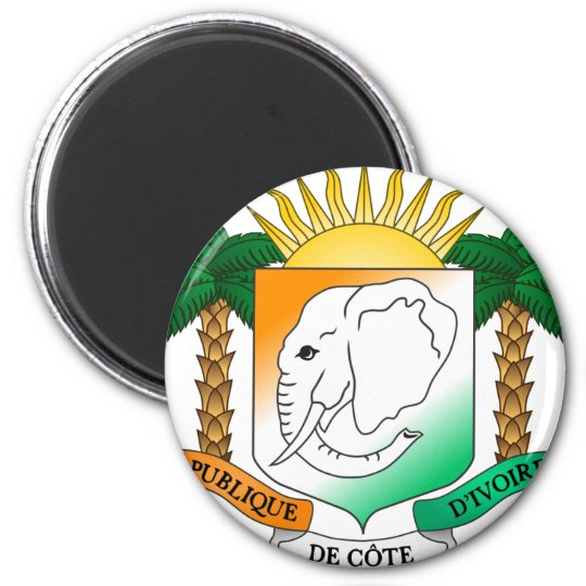 Ivory Coast coat of arms 6 Cm Round Magnet