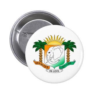 Ivory Coast coat of arms 6 Cm Round Badge