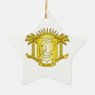 Ivory Coast Coat of Arms Christmas Ornament