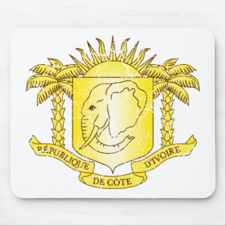 Ivory Coast Coat Of Arms Mouse Mat
