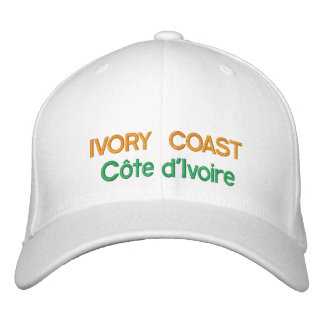 Ivory Coast - Côte d Ivoire Embroidered Hat