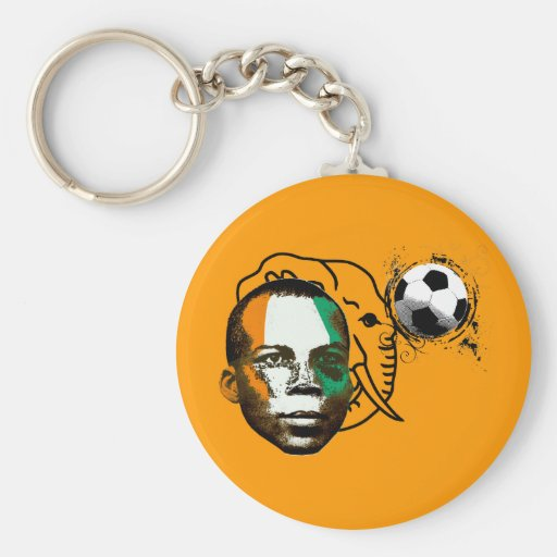 Ivory coast côte d'ivoire face soccer lovers gifts keychain