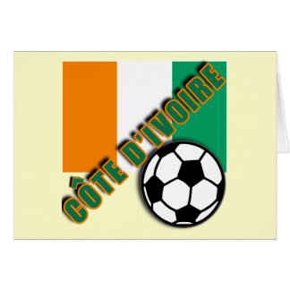 IVORY COAST COTE D'IVOIRE Soccer Fan Tshirts Greeting Card