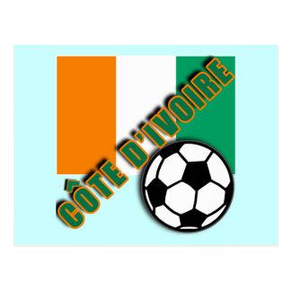 IVORY COAST COTE D'IVOIRE Soccer Fan Tshirts Postcards