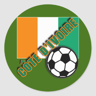 IVORY COAST COTE D'IVOIRE Soccer Fan Tshirts Round Stickers