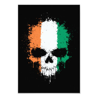 Ivory Coast Dripping Splatter Skull Announcements