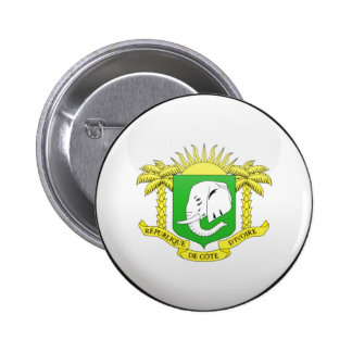 Ivory Coast Flag Pinback Buttons