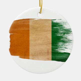 Ivory Coast Flag Christmas Ornament