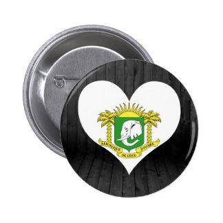 Ivory+Coast flag colored 6 Cm Round Badge