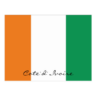 Ivory Coast flag colours postcard