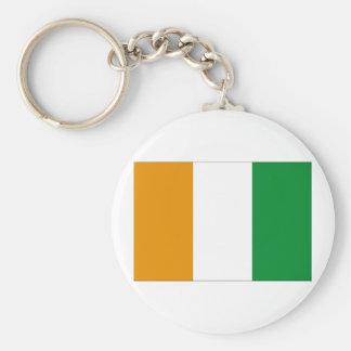 Ivory Coast Flag Key Ring