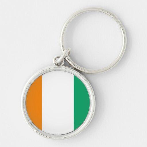 Ivory Coast Flag Key Chain