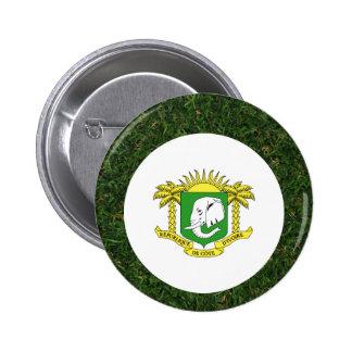 Ivory Coast Flag on Grass 6 Cm Round Badge