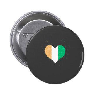 Ivory Coast Flag Shining Unique 6 Cm Round Badge