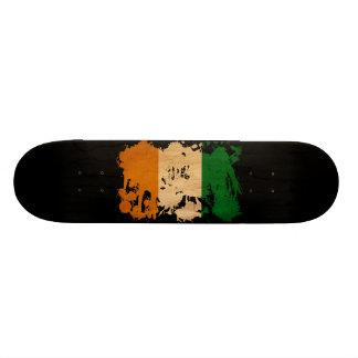 Ivory Coast Flag Custom Skateboard