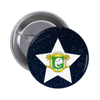 Ivory Coast Flag Star In Space 6 Cm Round Badge