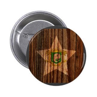 Ivory+Coast Flag Star on Wood theme 6 Cm Round Badge