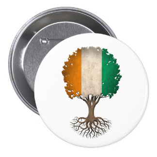 Ivory Coast Flag Tree of Life Customizable Buttons