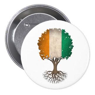 Ivory Coast Flag Tree of Life Customizable 7.5 Cm Round Badge