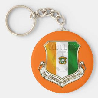 Ivory coast new fans shield emblem badge keychain