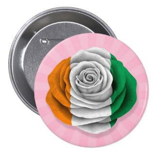 Ivory Coast Rose Flag on Pink 7.5 Cm Round Badge