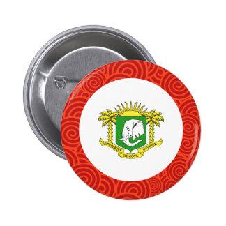 Ivory Coast round flag 6 Cm Round Badge