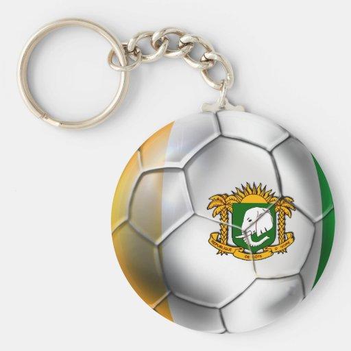 Ivory Coast soccer ball - Côte d'Ivoire football Key Chain