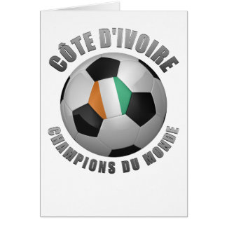 IVORY COAST SOCCER CHAMPIONS GREETING CARD