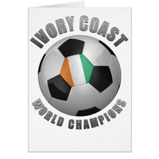 IVORY COAST SOCCER CHAMPIONS GREETING CARDS