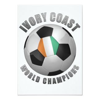 IVORY COAST SOCCER CHAMPIONS PERSONALIZED INVITE