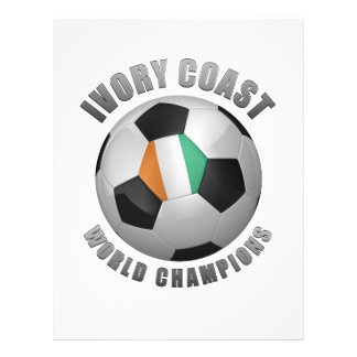 IVORY COAST SOCCER CHAMPIONS PERSONALIZED FLYER