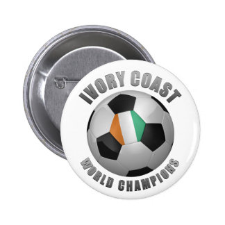 IVORY COAST SOCCER CHAMPIONS PINBACK BUTTONS