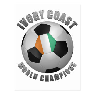 IVORY COAST SOCCER CHAMPIONS POST CARDS