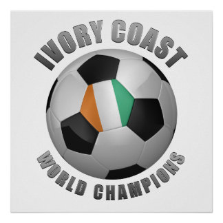 IVORY COAST SOCCER CHAMPIONS POSTERS