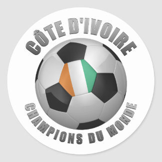 IVORY COAST SOCCER CHAMPIONS ROUND STICKERS