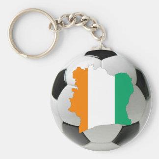 Ivory Coast soccer Key Ring