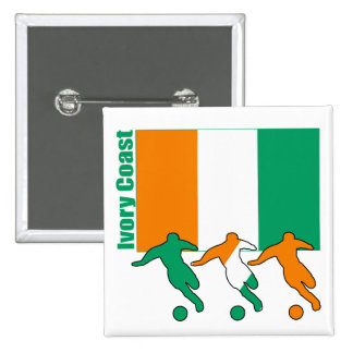 Ivory Coast - Soccer Players Pinback Buttons