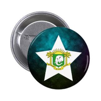 Ivory Coast Star Design Flag 6 Cm Round Badge