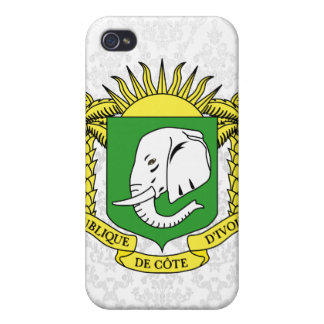 Ivory+Coast Star iPhone 4/4S Covers
