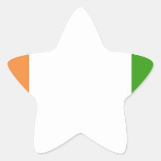 Ivory Coast Star Sticker