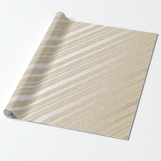 Ivory Cream Pastel Delicate Stripes Lines Wrapping Paper