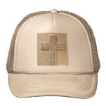 IVORY CROSS MESH HAT