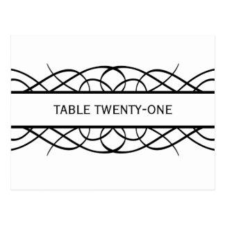 Ivory Deco Flourish Table Number Postcard