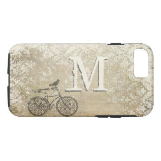 Ivory Distressed Vintage Damask Monogram iPhone 8/7 Case