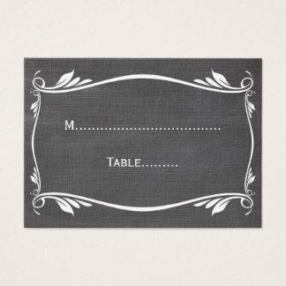Ivory Flourish Chalkboard Place Card
